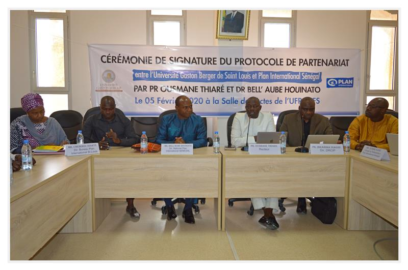COOPERATION : l'UGB et Plan International Sénégal signent une convention de partenariat !